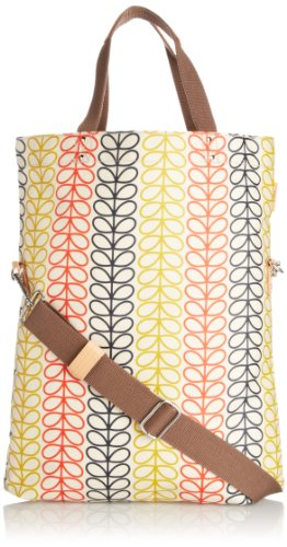 Orla Kiely Linear Stem Baby Tote & Changing Mat, Primary Multi