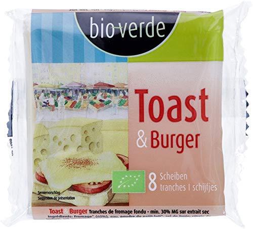 bio-verde Bio Toast & Burger Schmelzkäsescheiben 150 g 30% Fett i.Tr. 8 Scheiben (6 x 150 gr)