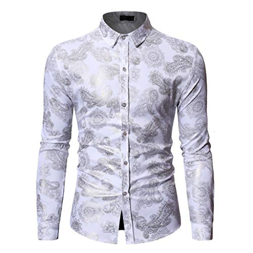 EU Größe S-XL Print Langarm Hemden Herren hemdjacke Männer oberhemden Hemd herrenhemd Hawaiian T-Shirt Casual Sommer Gedruckt Taste Tops Bluse CICIYONER