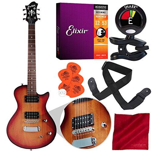 Hagstrom Ultra Swede ESN E-Gitarre Tobacco Sunburst mit Clip-On Tuner, Saiten, Plektren und Zubehörpaket