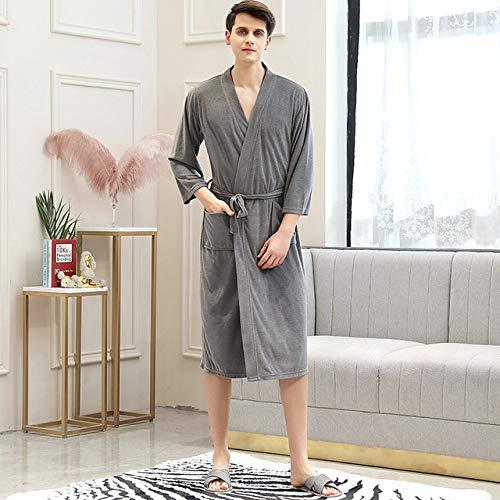 YRTHOR Amantes Toalla Elegante Bata Hombres Mujeres Kimono...