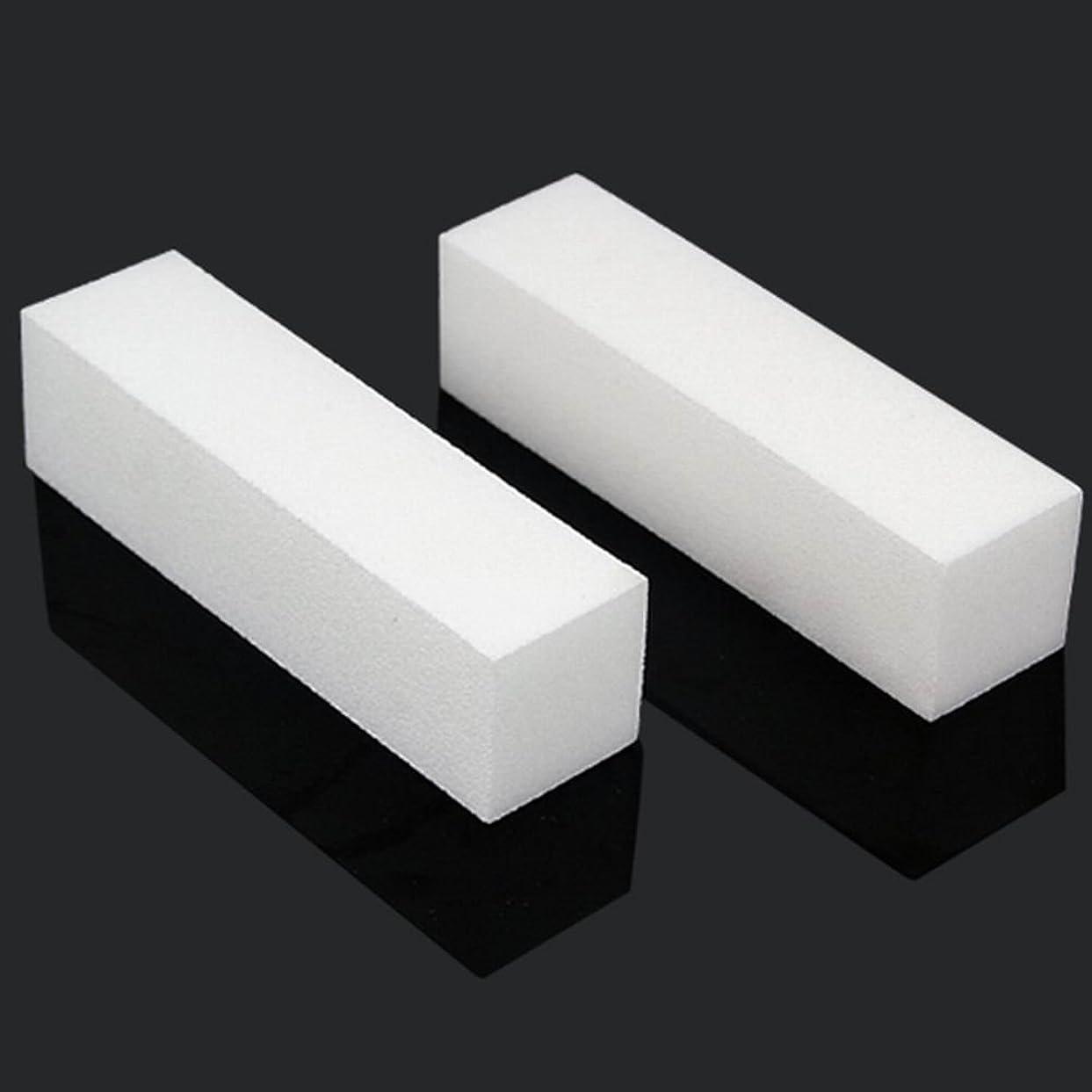 牽引あたたかい受粉するSODIAL 10x白いのアクリルネイルアートのバフ研磨のツール、マニキュアツール