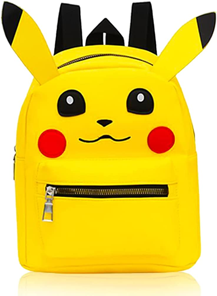Mochilas para Niños, Pokémon Mochila Infantil Kindergarten,Pikachu Animal Mochila Infantil Viaje Mochila para Guardería Preescolar Primaria Viajar
