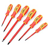 HORUSDY 6-Piece 1000v Insulated Screwdriver Set, Magnetic Tip Electrician screwdriver Set (Insulated Screwdriver Set)