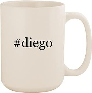 #diego - White Hashtag 15oz Ceramic Coffee Mug Cup