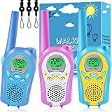 3 Pack Walkie Talkies for Kids,3KM Long Distance Clear Sound & Easy to