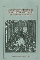 Les universités en Europe du XVIIe siècle à nos jours