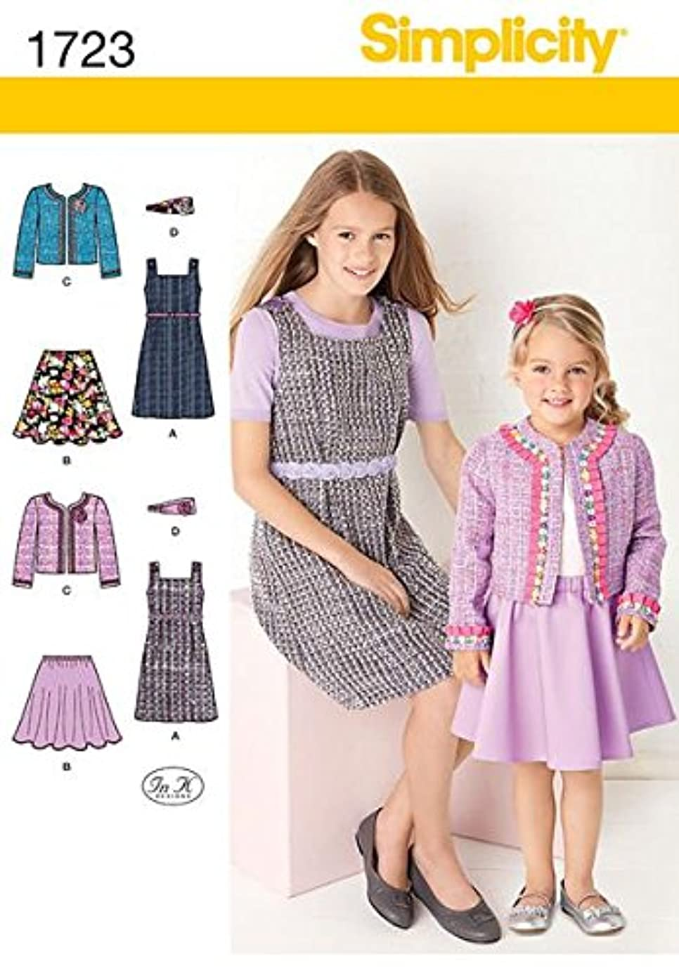 Simplicity 1723 Patterns Child's and Girls' Sportswear, 3, 4, 5, 6