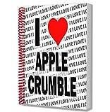 Cuaderno de notas con texto'I Love Apple Crumble', tamaño A5, regalo de cumpleaños o Navidad