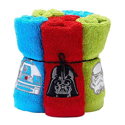 Disney Six Piece Star Wars Soft Terry Cotton Bathroom Washcloths 6-Set