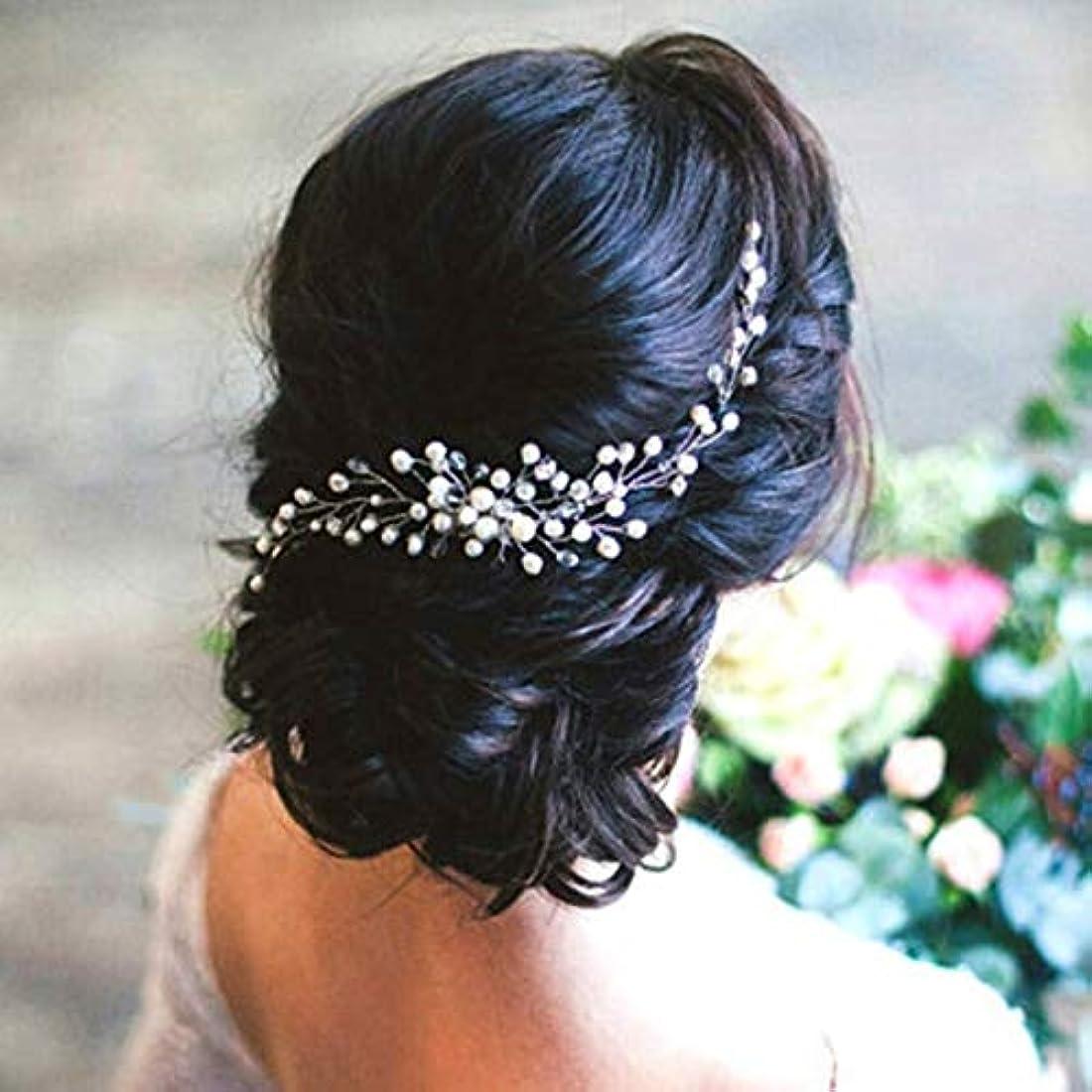 大声で階落ち着いたHairpinheair YHMブライダルヘア飾りファッションヘアウェアウェディングヘアアクセサリーコームヘッドピースヘッドドレスヘッド装飾ピン