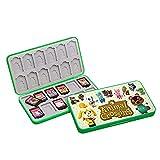 24 tarjetas de juego para Nintendo Switch o Micro SD tarjetas de memoria plegables, funda protectora rígida, resistente a los golpes, resistente al agua (Animal Crossing)