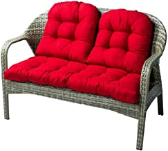Indoor/Outdoor Bench Cushion Cotton Garden Furniture Seat Cushion, Patio Wicker Seat Cushions for Lounger Garden Furniture...