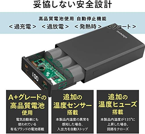 51XcIBD1uML-PD45W出力のモバイルバッテリー「cheero Power Plus 5 15000mAh」をレビュー!Chromebookに良いかも