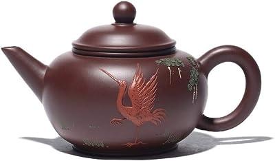 MADONG 新しいフラワーポット宜興は有名な手描きの急須のお茶Dahongpaoレベルをティーポット (Color : Purple Zhu Mu)