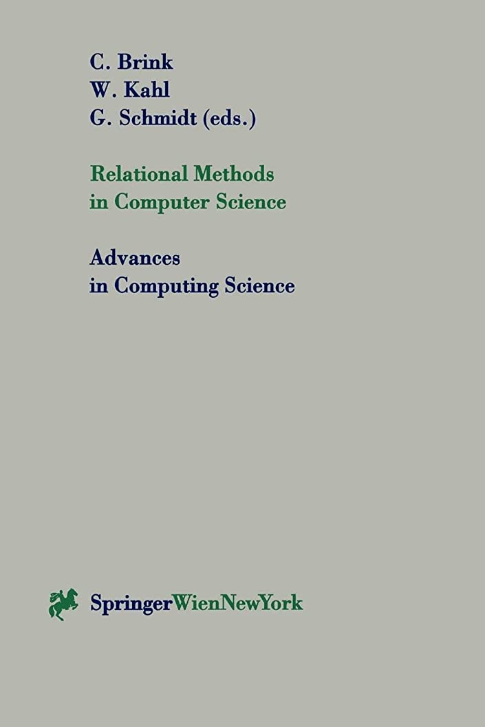 ことわざスツール機械Relational Methods in Computer Science (Advances in Computing Sciences)
