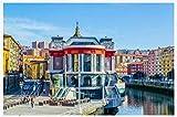 Puzzle 1000 Piezas Landscape Of Spanish City Ribera Market In Bilbao Uego Casual De Arte Diy Juguetes Regalo Interesantes Amigo Familiar Adecuado