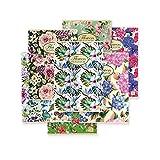 Pigna Nature Flowers 02298855M, Quaderno formato A4, Rigatura 5M, quadretti 5 mm per 2° e 3° elementare, Carta riciclata 80g/mq, Pacco da 10 Pezzi