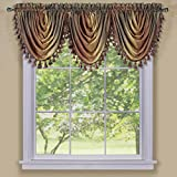 Achim Home Furnishings OMWFVLAT06 , Autumn Ombre Waterfall Valance