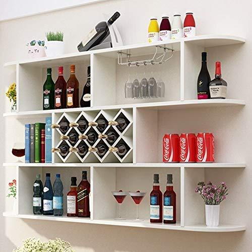 Heqianqian Bastidores De Vino Moderna Minimalista de Pared Estante del Vino del gabinete Vino Vino Rombo Celular Restaurante gabinete del Vino (Color : Blanco, tamaño : Un tamaño)