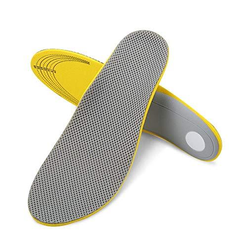 Peanutaoc 1 Paar Sportschoenen Inlegzolen Orthotische Platte Voet Boog Ondersteuning Kussen Ademend Schokbestendig Mannen Vrouwen Outdoor Activiteiten Inlegzolen