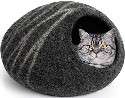 MEOWFIA Premium Felt Cat Cave Bed (Large) -...