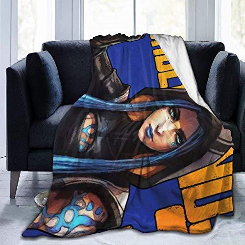 BLANKNTC Borderlands-3-Maya Sirene Throw Blanket für Unisex Adult Novelty Blanket für Sofa Wearable Blanket Home Bedding Blanket Flanelldecke S
