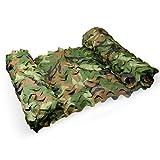 Red de camuflaje militar, densa, agregue una red de refuerzo, adecuada para esconderse, vehículos de cobertura y zonas de caza de tiro decorativas (varios tamaños disponibles, camuflaje selva Colo)