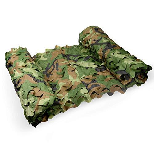 Camouflage Netting Red de camuflaje militar, densa, agregue una red de refuerzo, adecuada para esconderse, vehículos de cobertura y zonas de caza de tiro decorativas (varios tamaños disponibles, camuf