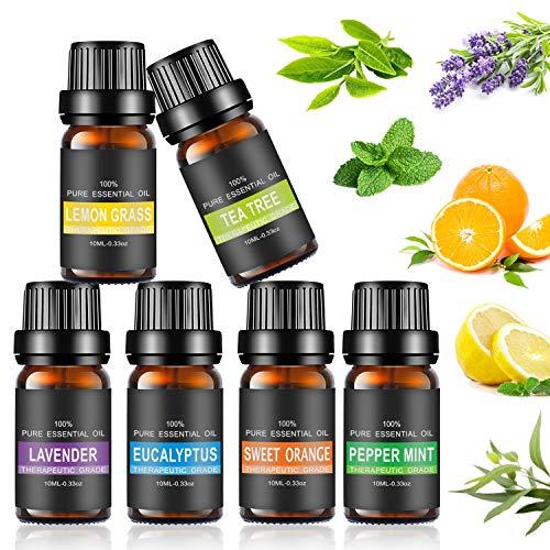 Ätherische Öle Set, joylink Aromatherapie Duftöl 100% Pure Ätherische Öle Geschenk-Set Aromatherapie therapeutisches Öl Für Diffuser/Duftlampen/Lufterfrischer Geeignet (6 Flavor)