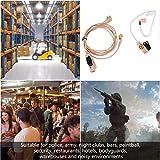 Shipenophy Tubo de Sonido Claro Auriculares cómodos Suaves para Walkie Talkie