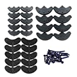 MiMiLive Heel Plates 28 Pairs Rubber Shoes Heel taps Tips Repair Pad Replacement with Nails Small, Medium,Large Size (3 Size,Black)