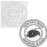Embosser - Custom Logo Image Seal Embosser Custom Notary Embosser Stamp, Book Embosser, Library Stamp Embosser Stamp Seal Custom Paper Official Business Logo or Image ( 1 5/8')