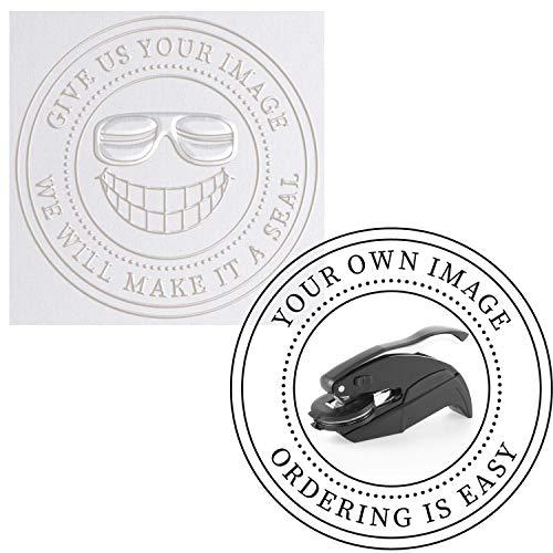 """Embosser - Custom Logo Image Seal Embosser Custom Notary Embosser Stamp, Book Embosser, Library Stamp Embosser Stamp Seal Custom Paper Official Business Logo or Image ( 1 5/8"""")"""