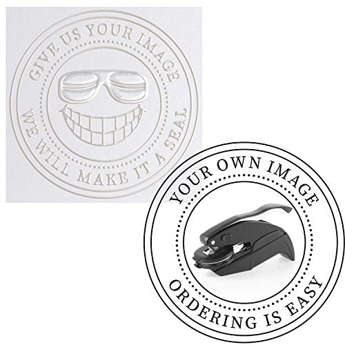 Embosser  Custom Logo Image Seal Embosser Custom Notary Embosser Stamp Book Embosser Library Stamp Embosser Stamp Seal Custom Paper Official Business Logo or Image  1 5/8quot