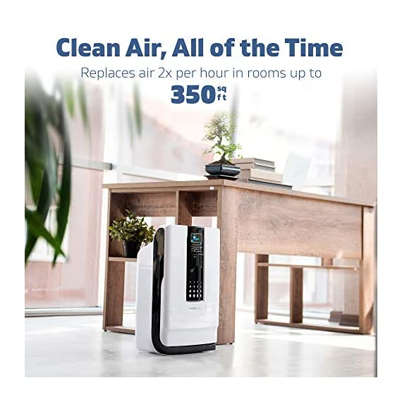 Hathaspace smart true hepa air purifier for home, 5-in-1 large room air cleaner for allergies, pets, asthma, smokers… 9 purify your air: protect your family from home air pollutants like dust mites, pollen, pet dander, pet hair, odors, smoke, and voc's. Our 5-in-1 true hepa air purifier captures particles you can't see, filtering 99. 97% of pollutants as small as 0. 3 microns. Breathe easier: nothing feels better than breathing clean air. Read our 5,000+ reviews and see just how much our air purifier has helped with common allergy symptoms like sneezing, coughing, and irritated eyes. Remove odors, smoke, & voc's: both an air cleaner and odor eliminator, our air purifier features a unique honeycomb activated-carbon filter that absorbs odors, smoke, and voc's. Ozone-safe and fully approved by carb, an anion generator can be separately turned on to target the most stubborn odors like litter boxes, cigarettes, and old homes.