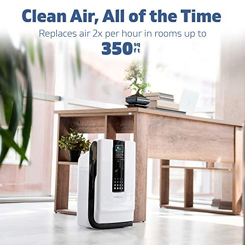 Hathaspace Smart True HEPA Air Purifier, 5-in-1 Large Room Air Cleaner & Deodorizer for Allergies, Pets, Asthma, Smokers, Odors – Eliminates Pet Hair, Allergens, Dust, Pollen, Mold, Smoke - HSP001