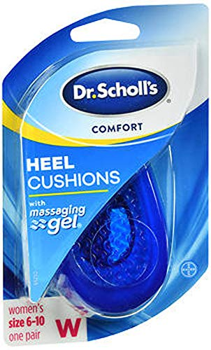 Dr. Scholl's Massaging Gel Heel Cushions for Women Size 6-10 - 1 PR, Pack of 2