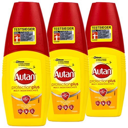 Autan Protection Plus Multi-Insektenschutz 100ml - 3 Stück pro Pack
