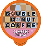 Double Donut Medium Roast Decaf Coffee Pods, Classic, for Keurig K-Cup Machines, 24 Single-Serve Capsules per Box