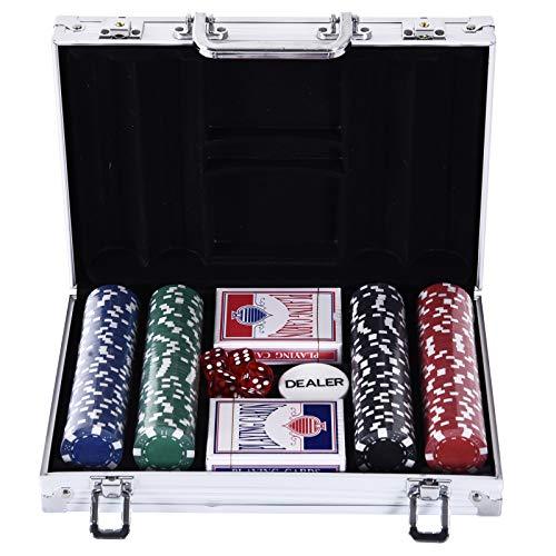HOMCOM Mallette Pro Poker Coffret Complet 30L x 21l x 6,5H c