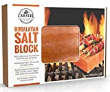 "Himalayan Salt Block - Grill Brick for Searing, Grilling, Heating, Chilling, Preparing and Seasoning - Beautiful Pink Salt BBQ Accessory - 8"" x 8"" x 1.5"""