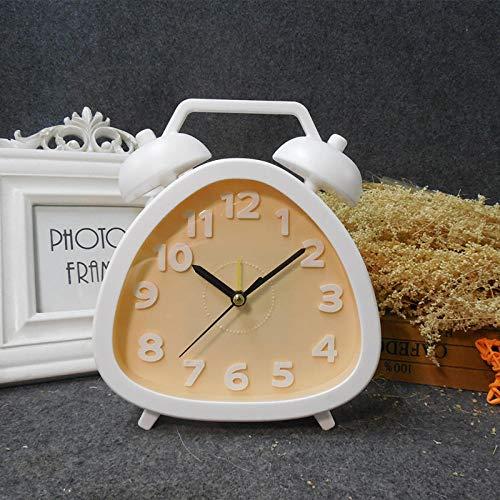 Despertador Estudiante Simple Mesita De Noche Dormitorio Reloj-Amarillo Despertador Analógico Despertador De Viaje