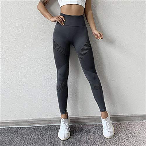 HPPLYoga naadloze legging Gym yoga broek dames hoge taille yoga legging sport dames fitness kleding sportbroek dames sportkleding, grijze yogabroek, S/M