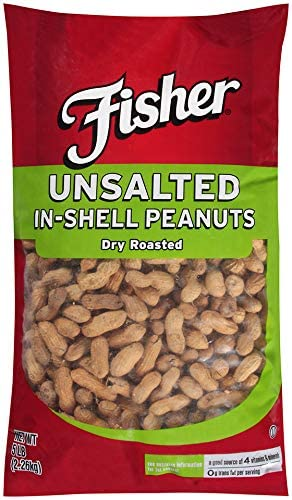 Unsalted Fisher Dry Roasted Peanuts 5lb Bag product image