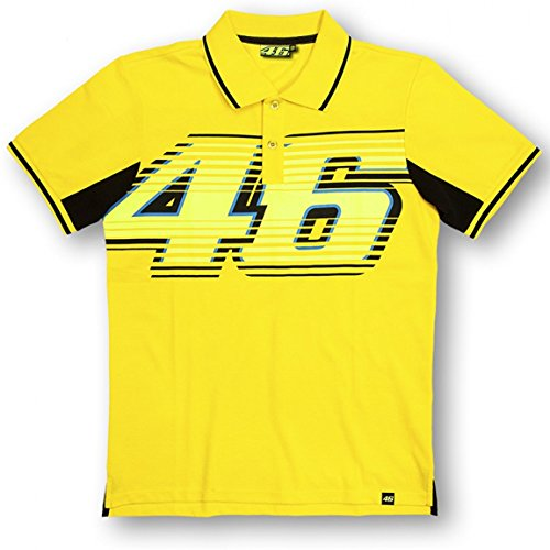 Valentino Rossi VR46 grand 46 Moto GP Polo Shirt jaune officiel Neuf