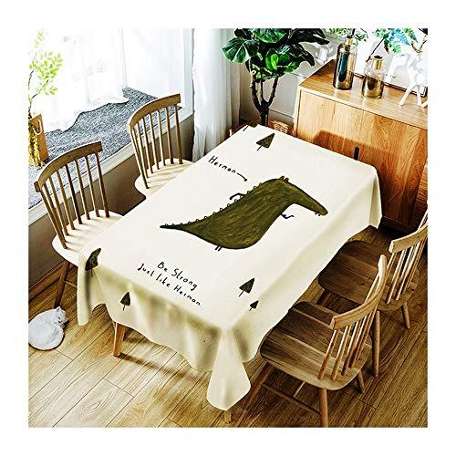 ZHAOXIANGXIANG Nappe Lavable Cartoon Animal Impression Numérique Décoration Maison Pique-Nique Dîner Table Cloth Imprimer,130Cm×180Cm