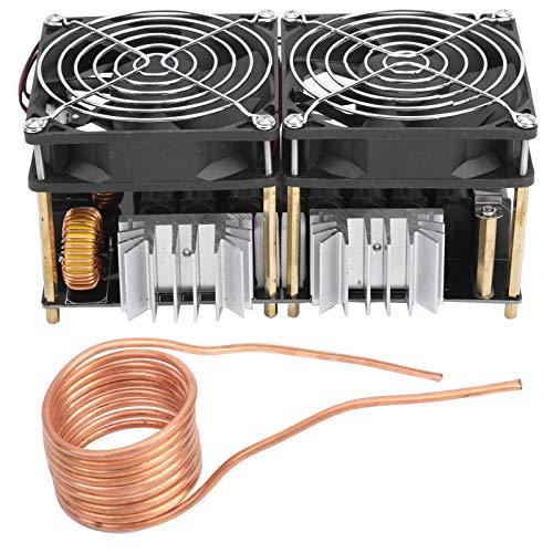 Módulo de placa de calentamiento por inducción de 1800 W, módulo PCB de alta frecuencia, placa calefactora de controlador de retorno con ventilador, collar de latón para jugadores de bricolaje