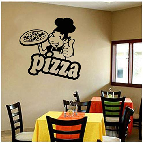 Hanzeze Pizza voedsel muur Stickers Afneembare en levendige ontwerp DIY huis muur raam art deco sticker geschikt voor kinderkamer 57x58cm
