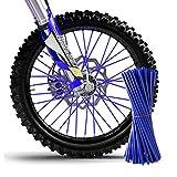 TREONK 72pcs Copriraggi Ruote - Kit Rivestimento Raggi Motocross Cerchioni Colorati per Ruote Anteriore e Posteriore da 19' e 21'